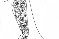 мехенди на ноге эскизы