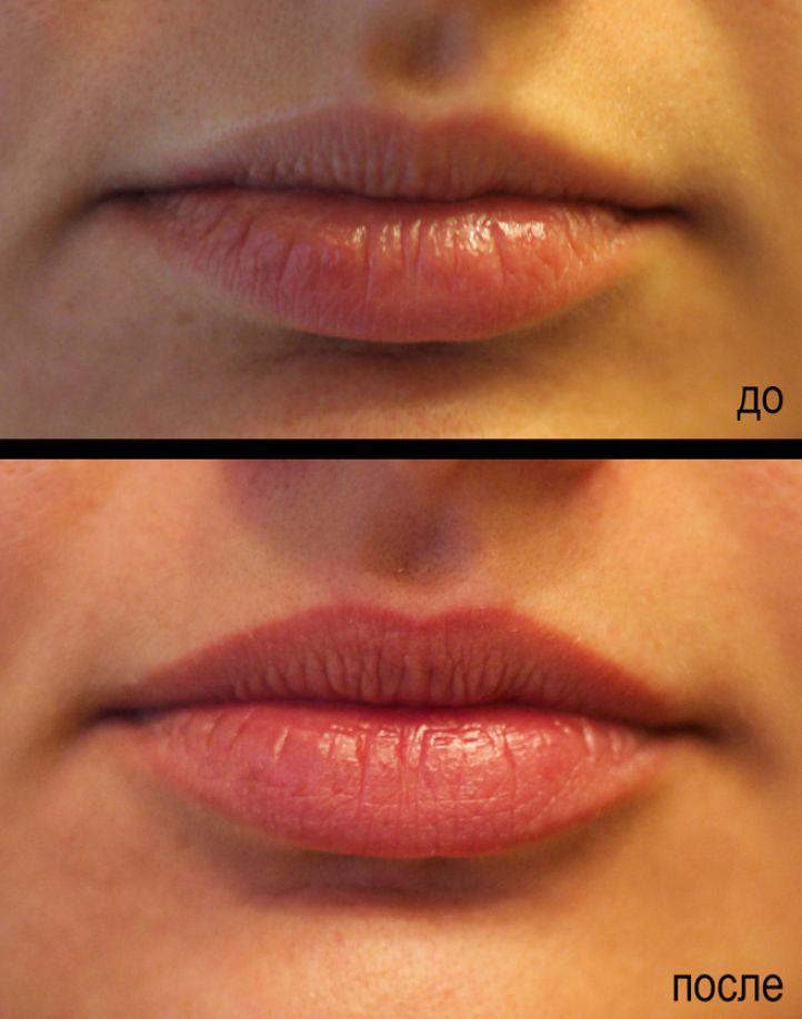 Татуаж губ фото до и после отзывы