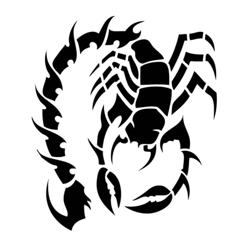 картинки черно белые тату скорпиона приветствовать