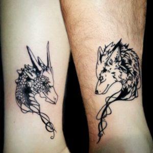 совместные тату для пары животное