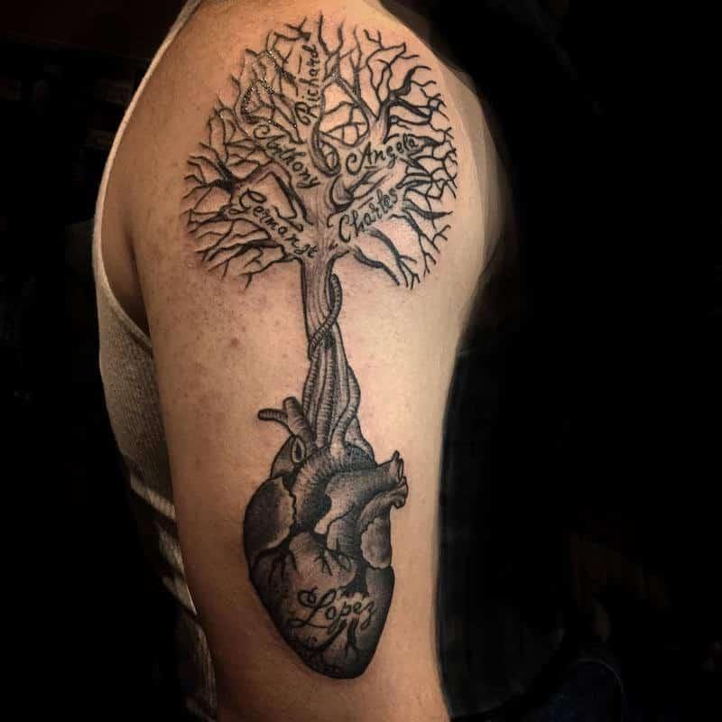 тату дерево жизни на руке эскизы фото