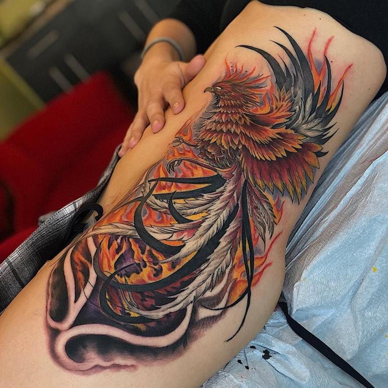 фото татуировок феникс чтобы