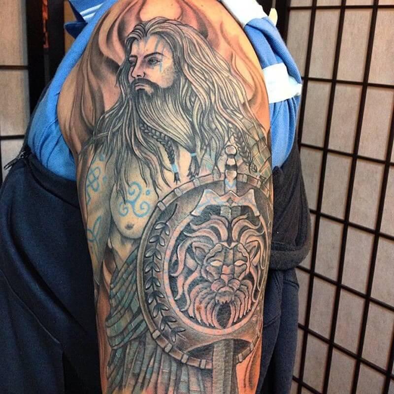 смотреть картинки татуировок с викингами любителей