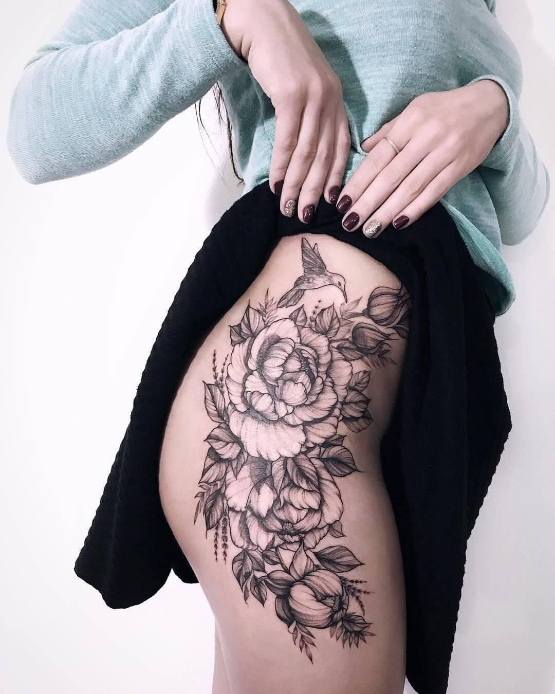 Женские татуировки на бедро - Pinterest