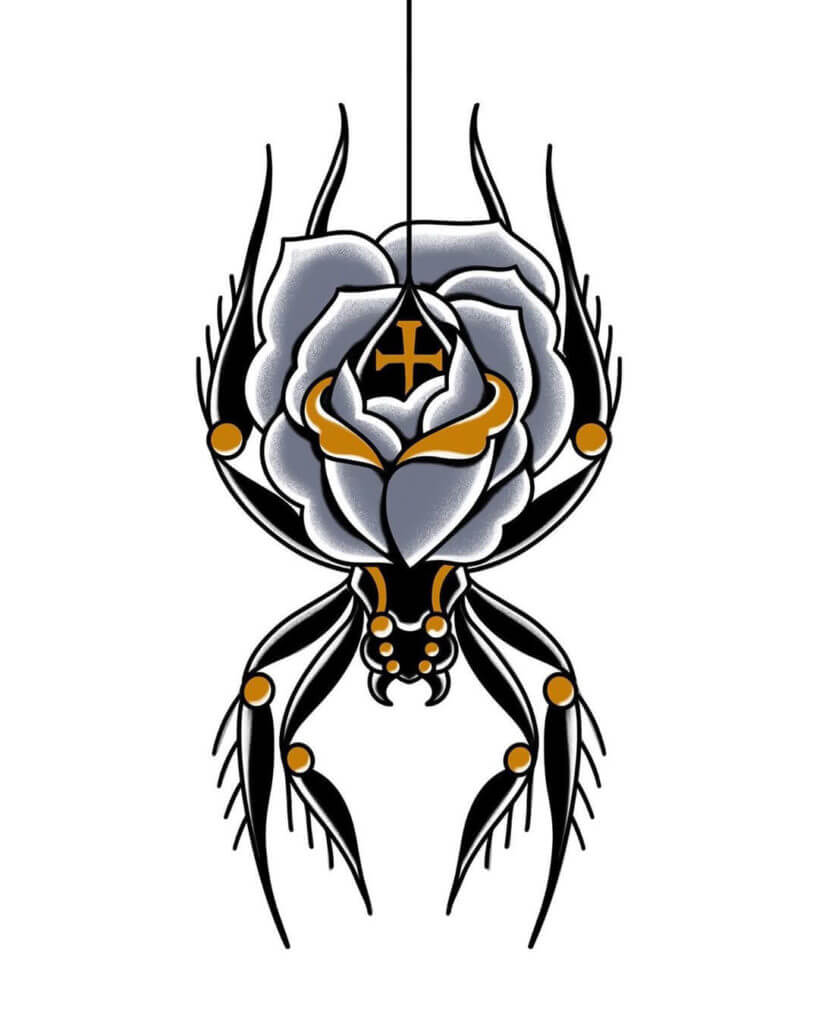 Тату паук: значение татуировки для мужчин и женщин, что