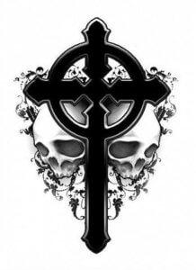 эскиз тату крест